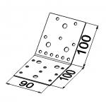 Пластина 135 градусов 100x100x90