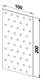 Пластина прямая оцинкованная 100x200