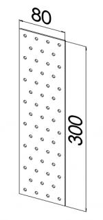 Пластина прямая оцинкованная 80x300