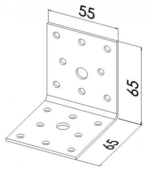 Уголок 65x65x55