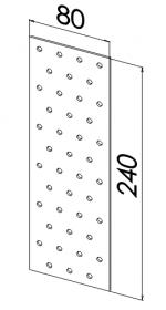 Пластина прямая оцинкованная 80x240