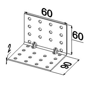 Уголок усиленный 2 ребра  90x60x60