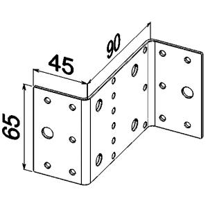 Пластина Z образная 40x90x65