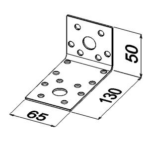 Уголок 50x130x65