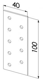 Пластина прямая оцинкованная 100x40